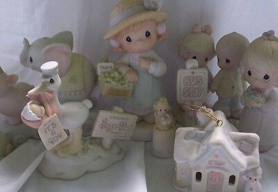 Lot of 10 Vintage Precious Moments Figurines- Lot 10 Precious Moments No Boxes