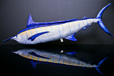 Large Blue Marlin Billfish Soft Toy Fish pub sea fishing makaira pillow 118 cm