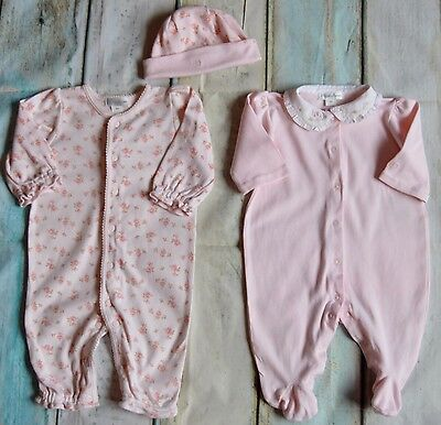 Baby Girl Designer Clothes 2 Ralph Lauren Pink Coverall Suit & Hat 0-3 Months