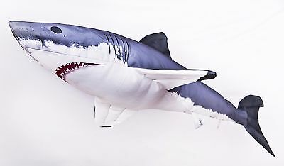 Giant Great White Shark Soft Toy Stuffed Fish, pillow Ocean Sea Gaby 120 cm