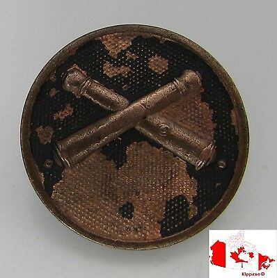US Army WWI Field Artillery Bronze Screw Back Enlisted Branch Collar Disc