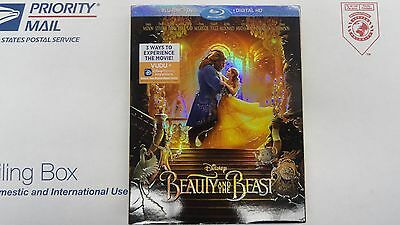 Beauty and the Beast 2017 Blu-ray + DVD + Digital Copy  SEALED FREE SHIPPING!