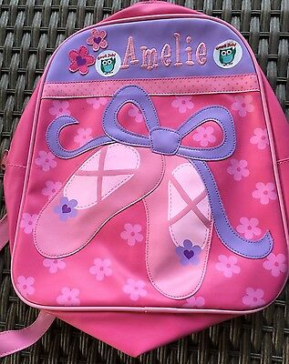 Dance Bag Ballet Shoes Amelie Name Backpack Pink And Lilac Purple