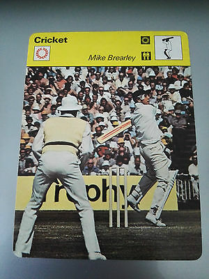 CRICKET - MIKE BREARLEY / MIDDLESEX / ENGLAND - Sportscaster Photo Fact Card