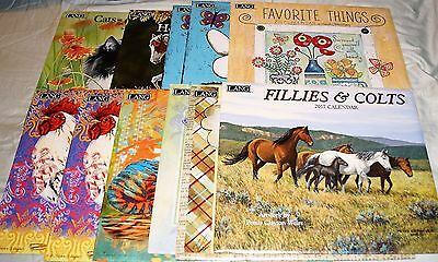 Lot 11 Lang Calendars Rooster, Coffee, Cats, Horses, Tigers ++