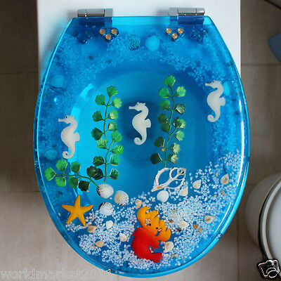 New High-quality Light Blue Urea Formaldehyde Resin UVO Bathroom Toilet Seat