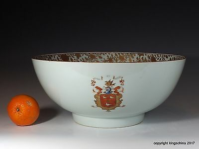 Chinese Armorial porcelain BOWL MAKGILL  COAT ARMS QING macgill mcgill 中国纹章瓷板乾隆帝