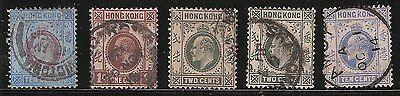 Lot of 10 USED Hong Kong Stamps- Scott #76, #86-88, #95, #100, #110-112, #116