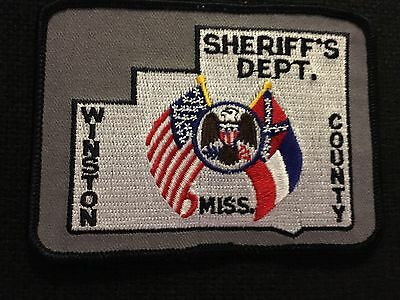 Winston County Mississipppi Sheriff  Shoulder Patch