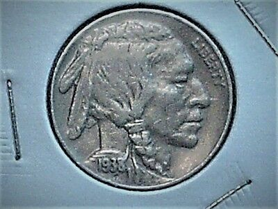 1938D/s Buffalo Nickel Very Fine 98% Horn