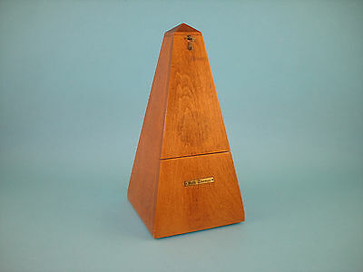 Vintage Seth Thomas 6301 Metronome in Wood Case - Excellent Working Condition