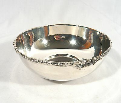 Sterling Silver Bowl British Colonial India 5 1/4 inch 142 grams