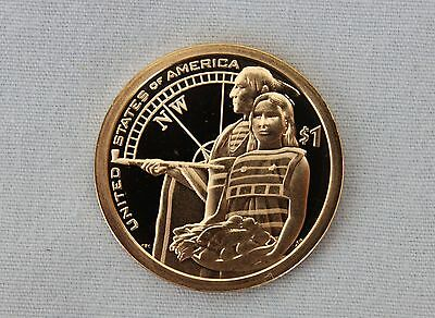 "2014-S Native American ""Northwest Passage"" Proof Dollar Ultra Deep Cameo"