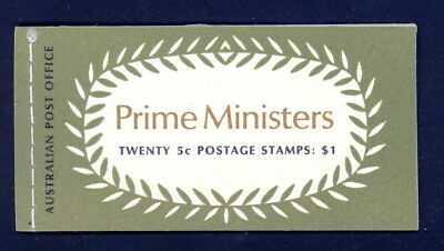 Australia complete booklet 450a to 453a panes - mnh 5 cts Prime Ministers