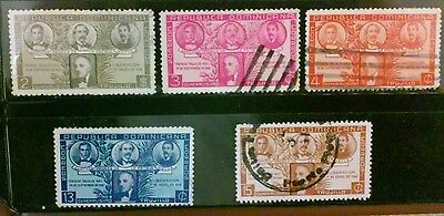 Dominican Republic 5 old used stamps