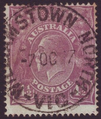 """VICTORIA POSTMARK """"WILLIAMSTOWN NORTH"""" ON 4-1/2d VIOLET KGV DATED 1927 (A8401)"""