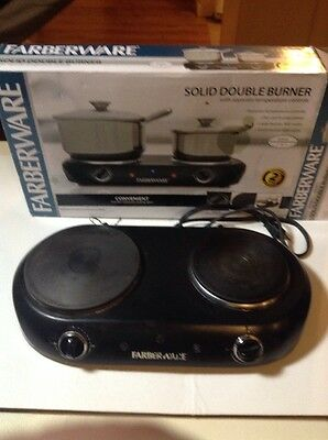 Faberware Solid Double Burner Hot Plate Used