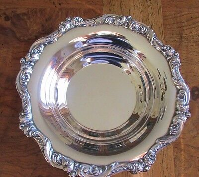 Poole Silverplate   Nut Candy Dish Bowl  Old English 5004   6.5in