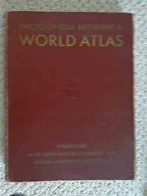 World Atlas by Encyclopedia Britannica Copyright in the U.S. of A. 1942 to 1947