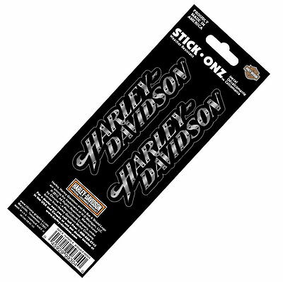 Harley Davidson Text With Rivets Decals * Made In Usa * Sheet Of 2 Decals