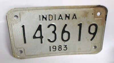 Vintage 1983 Indiana Motorcycle License Plate