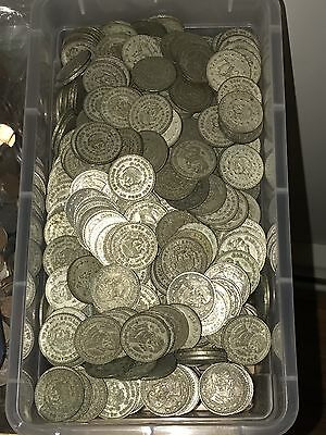 10 Random 1 one Peso Mexico Silver Coins Lot