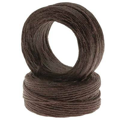 Waxed Irish Linen Necklace Or Knotting Cord 1mm Brown 10 Yard