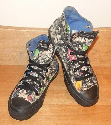 1989 CONVERSE ROLLING STONES ALL-STARS (Men 5.5) ~ Made in USA ~ STEEL WHEELS