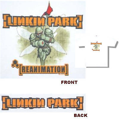 Linkin Park! Reanimation Soldier White T-Shirt Large New!