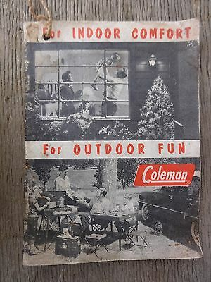 Vintage Coleman Co. Indoor Comfort & Outdoor Fun Brochure for Home and Camping