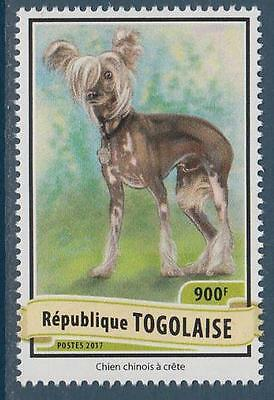 Chinese Crested Dogs Togo MNH stamp 2017