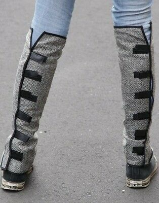 Grey Leg Warmers/ Leggings  Just Brilliant Look Amazing Knee 2 Ankle