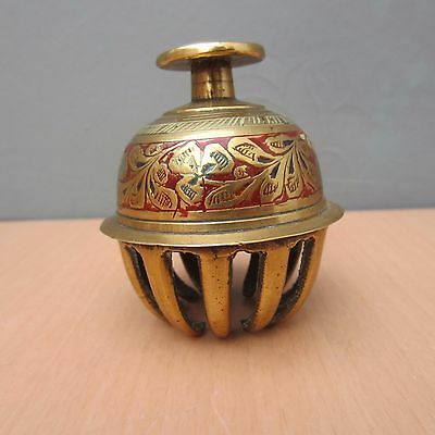 Vintage Brass Small Elephant Claw Bell With Clapper