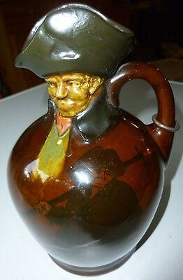 Royal Doulton Kingsware Whisky Jug Night Watchman 20cm excellent condition