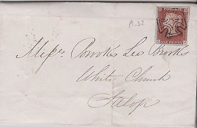 1844 QV GREAT BRITAIN IRELAND 1d PENNY RED IMPERF STAMP & BELFAST SPECIAL MX E/L