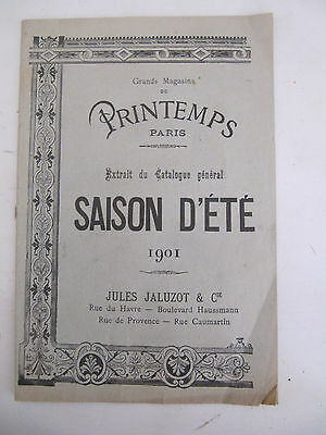 Catalogue Printemps Paris saison 1901 extrait