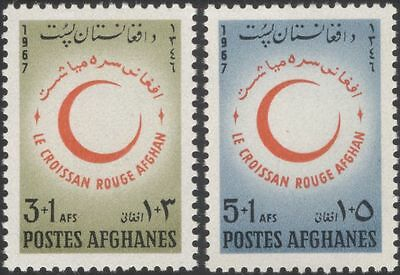 Afghanistan 1967 Red Crescent/Red Cross/Medical/Health/Welfare 2v set (n27617)