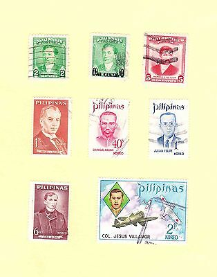 Philippines Stamps 1948 To 1973 Old Mixed Lot