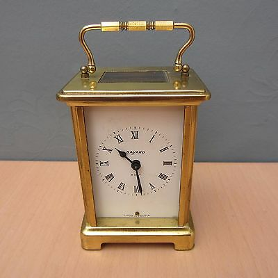 BAYARD 8 DAY BRASS CARRIAGE CLOCK WITH FRENCH MOVEMENT No 79
