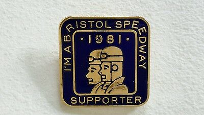 Bristol Speedway 1981 Supporters Club Badge (Gold) Royal Blue Colour  Rare