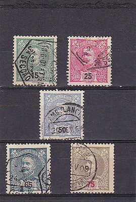 PORTUGAL STAMPS D. CARLOS I NEW COLOURS & VALUES   (1898 - 1905)      Used