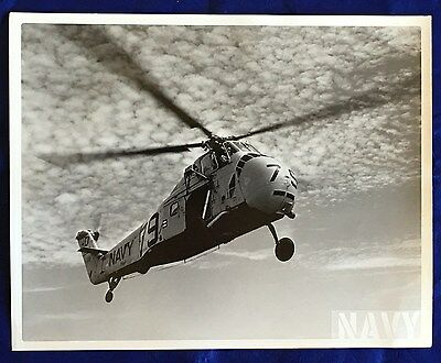 Official Press Release NAVY Photo - HSS-1 Aircraft Helicopter In Flight 07/18/58