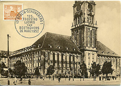 Germany Schoneberg City Hall  125th Anniv of Beethoven death cancel Maximum Card