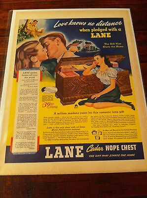Vintage 1944 Lane Cedar Chest A Million Maidens Yearn For This Romantic Gift ad