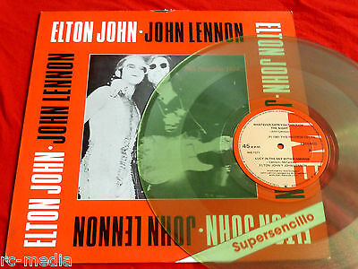 "JOHN LENNON & ELTON JOHN - Columbian 12"" Live EP on Clear Vinyl (Beatles)"