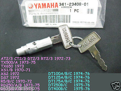 Yamaha RD350 R5 DS7 CT2 CT3 TX500 Steering Lock with Keys #1717 NOS 341-23408-01