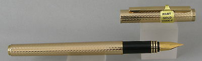 Pilot 15000F Gold Barley Fountain Pen - Fine Nib - New In Box