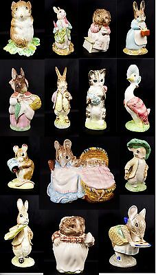 Royal Albert Beatrix Potter Figures 10 to Choose From use drop down menu