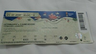 Ticket Fifa Confed Cup 2017 Match Deutschland - Kamerun (mint )