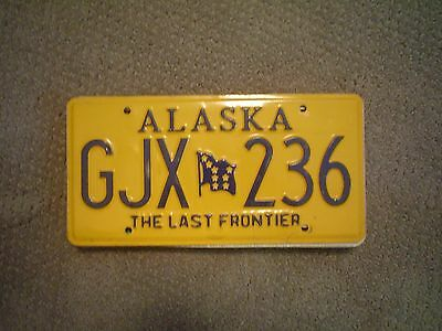 Alaska The Last Frontier Flag     License Plate    Buy All States Here